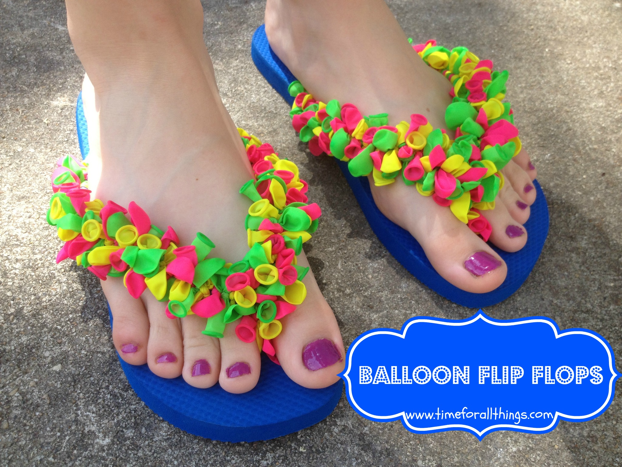 Diy balloon flip flops time for all things for Flip flops for crafts