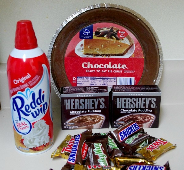 Candy Chocolate Cream Pie - Ingredients