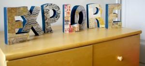 Wood Letters - Dresser