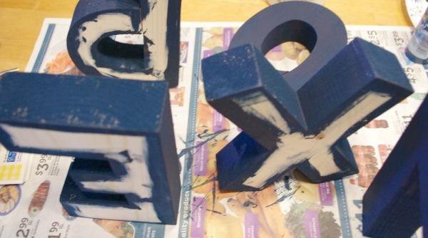 Wood Letters - Paint