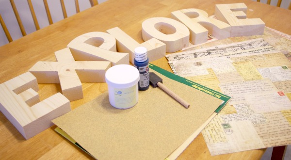 Wood Letters - Supplies