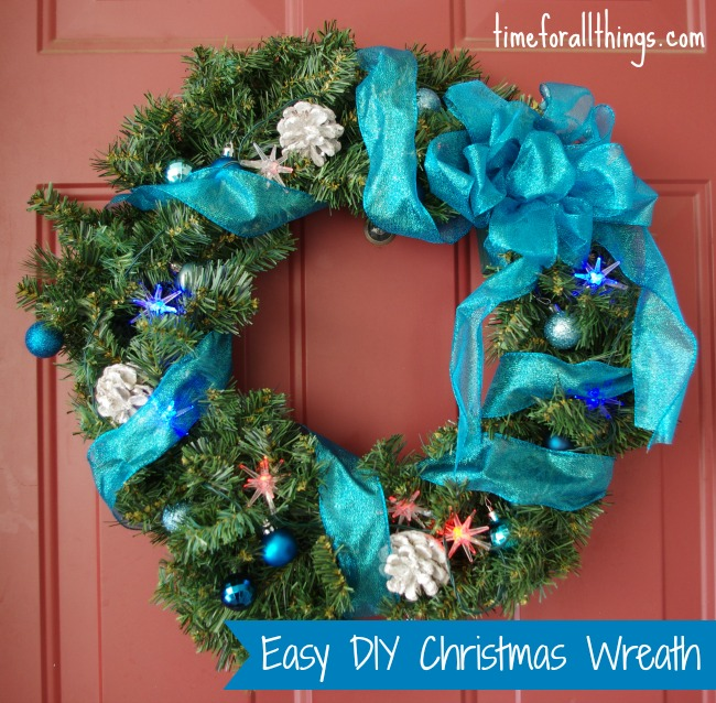 Easy Diy Christmas Wreath Time For All Things