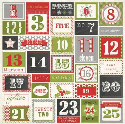 Numbers ( Echo Paper Tis The Season Line ) into individual numbers ...