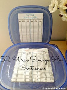52 Week Savings Plan Boxes